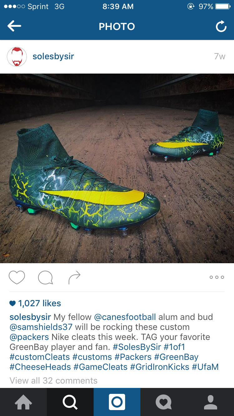 Custom cleats take over the NFL